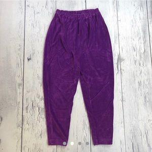 Vintage Corduroy Joggers size small purple women's